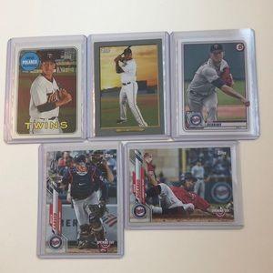 Lot of 5 Minnesota Twins Topps MLB Baseball Cards